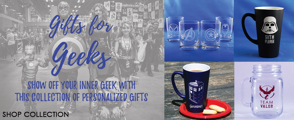It's Geek Week! Show your inner geek with these fabulous personalized gifts!