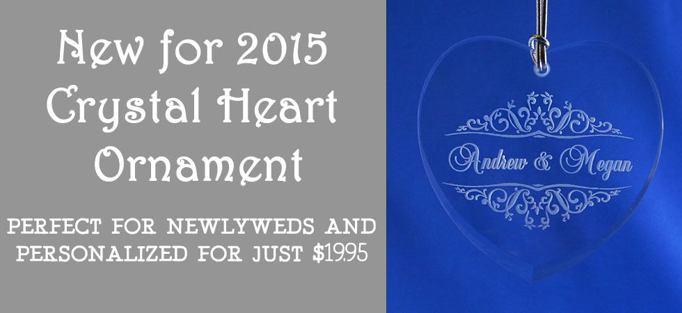 This gorgeous crystal heart ornament is perfect for couples spending their first christmas together! Order today!