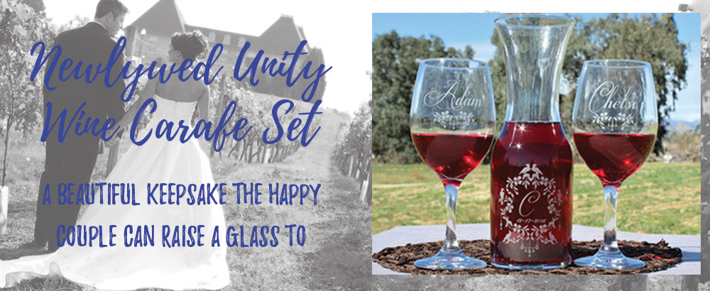 This week's featured item is our Newlywed Unity Wine Carafe Set, order for your wedding today!