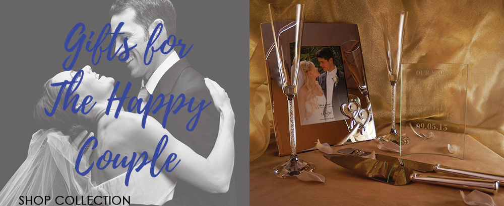 Browse our collectino of personalized wedding gifts for something perfect to give to the newlyweds!
