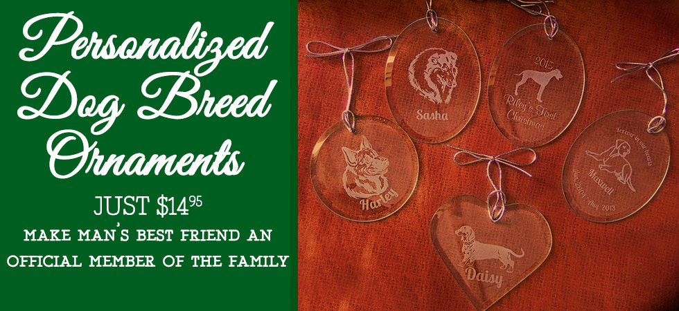 Order a personalized Dog Breed Ornament today! a must-have gift for any pet lover!