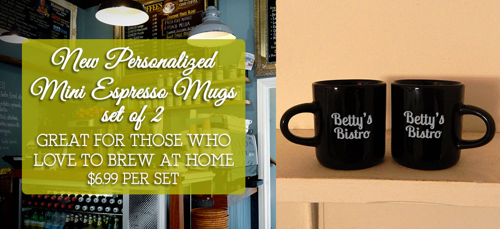 Personalized Mini Espresso Mugs are an essential gift for avid coffee drinkers! Order a pair today!