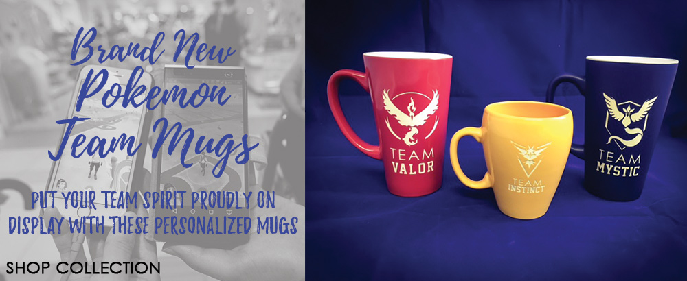Show off your Pokemon Team Spirit with these personalized Mugs