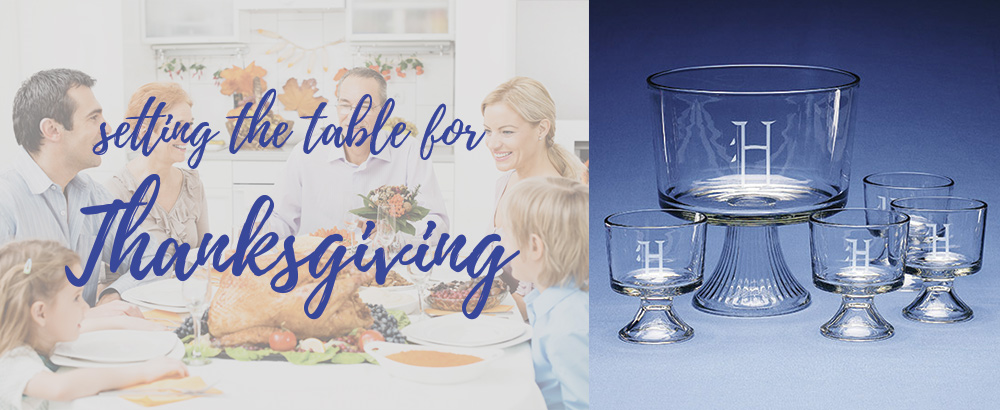 Set the table for Thanksgiving with personalized tableware!