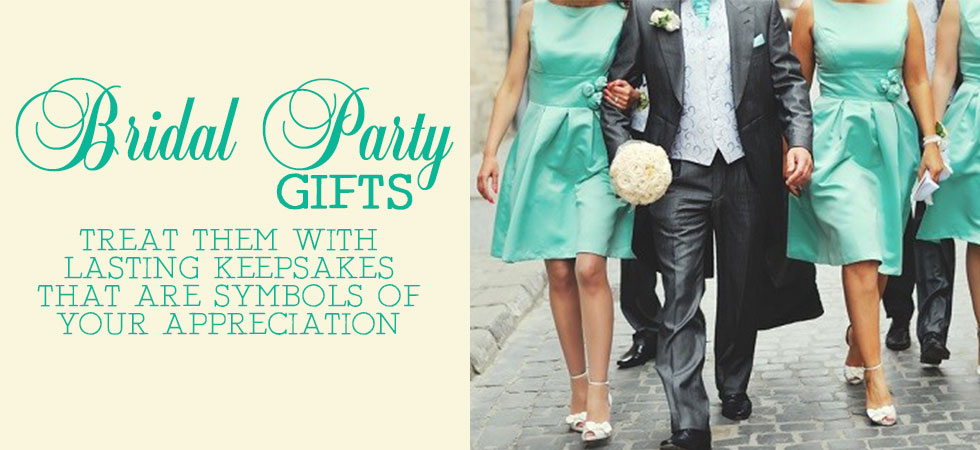 Great memorable personalzied gifts for your bridal party from The Crystal Shoppe!