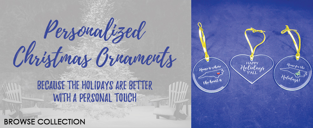 Personalized Ornaments are great for the holidays!