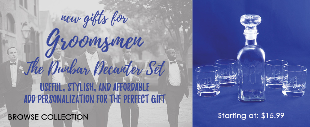 Gifts for Groomsmen featuring our Dunbar Decanter Set, order today!