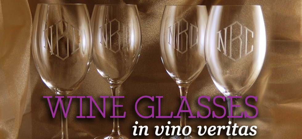 The Crystal Shoppe's Collection of Personalized Wine Glasses
