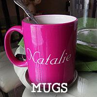 Personalized Ceramic and Glass Mugs