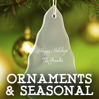 The Crystal Shoppe's Collection of Personalized Ornaments and Seasonal Holiday Items
