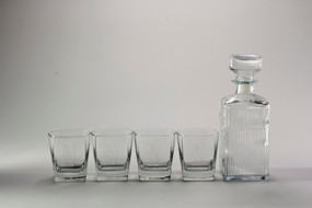 Personalized Parallel Decanter Set