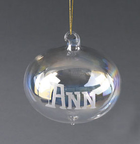 Personalized Mouth Blown Onion Christmas Tree Ornament