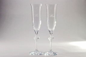 Personalized Amore Toasting Flutes