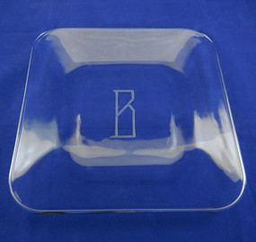Personalized Square Curved Plate