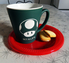 Small Personalized Green Matte Super Mario Bros 'Get a Life' Mug