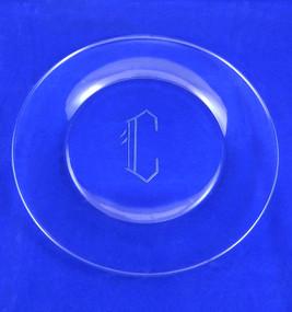 "Monogrammed Round 10"" Dinner Plate (Set of 4)"