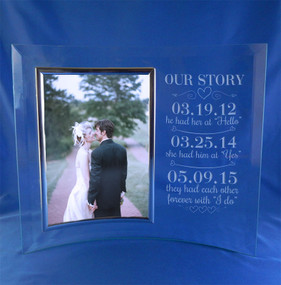 Personalized Couple's Love Story Wedding Frame