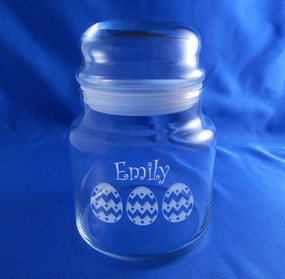 Personalized Easter Egg Candy Jar