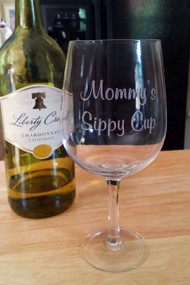 Personalized Funny Saying Wine Bottle Glass