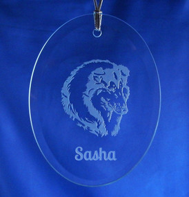 Personalized Oval Pet Ornament