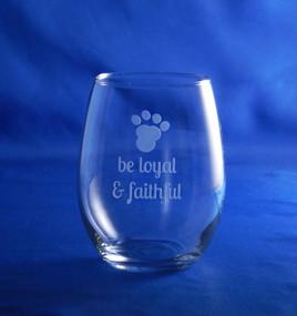 Dog Wisdom 15oz Stemless Wine Glass