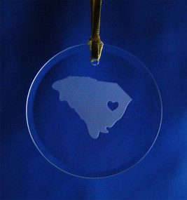Personalized State Pride Round Ornament