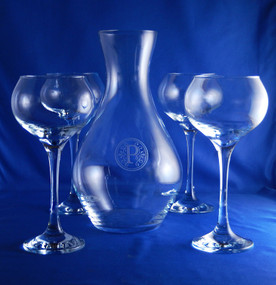 Personalized Sonnet Wine Carafe Set