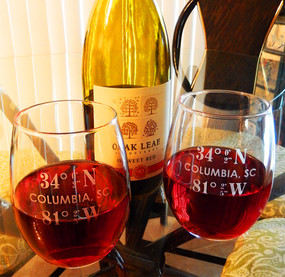 Personalized 15oz Coordinate Stemless Wine Glasses, Set of 2