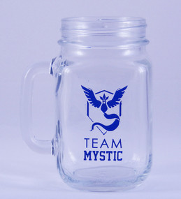 Personalized Pokemon Team Mystic Mason Jar Mug