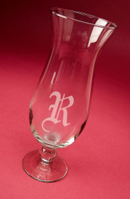 Personalized Hurricane Cocktail Glass