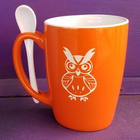 Personalized Orange Owl Mug