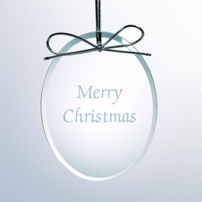 Personalized Flat Oval Ornament