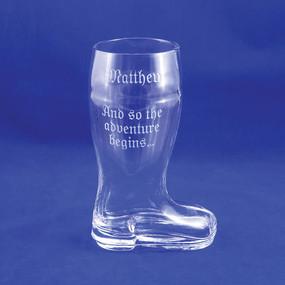 Personalized Half-Liter Graduation Beer Boot