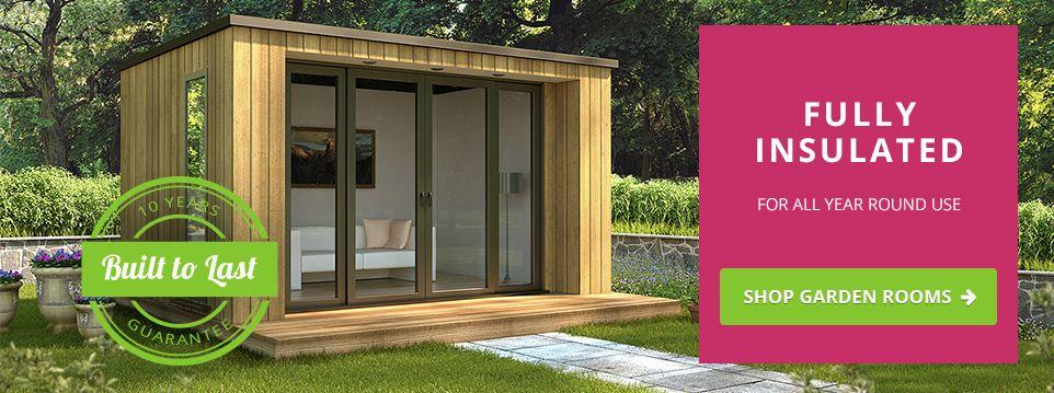Rubicon garden rooms fully insulated zero maintenance for Pre built garden rooms