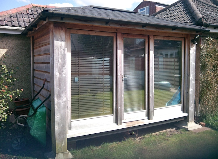 Garden rooms made with composite for Cedar garden office