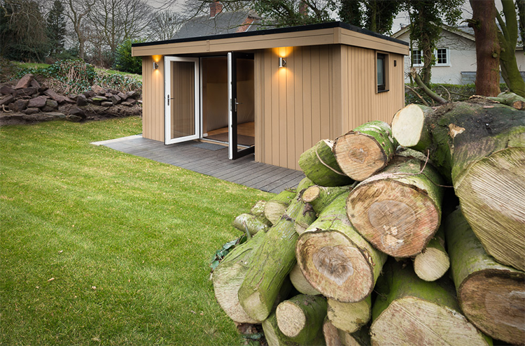Bespoke Garden Room with Shower and Toilet in Frodsham, nr Chester, Cheshire
