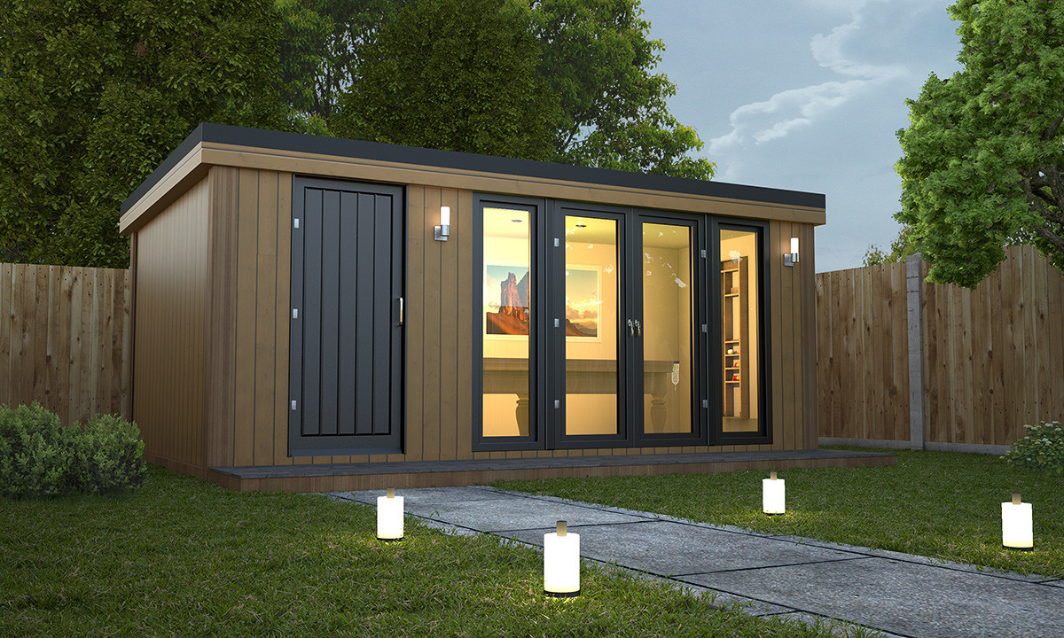 Garden rooms and garden offices combi style x for Modular garden rooms