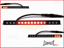 Universal License Plate Mount Integrated LED Stop / Tail Light / Turn Signals