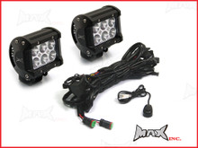 Universal Car 18w CREE LED Spot / Driving Lights + Complete Wiring Kit - PLUG N PLAY
