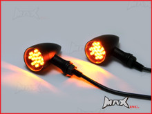 Black Alloy Classic LED Turn Signals / Indicators