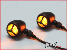 Black Alloy LED Custom HD Turn Signals / Indicators - Smoked Lense