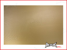 High Grade Self Adhesive Gold 3D Carbon Fiber Vinyl Wrap - 45cm x 37cm