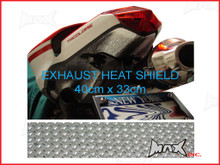 Self Adhesive Exhaust Aluminium Reflective Heat Shield - 40cm x 33cm