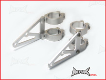 MAX High Quality CNC Machined Silver Headlight Brackets - 50/51mm Diameter