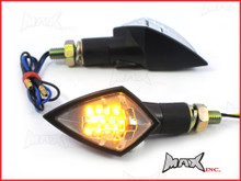Black Mini LED Turn Signals / Indicators - Small & Bright