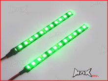 Super Bright Universal Green LED Self Adhesive Strips - 15cm