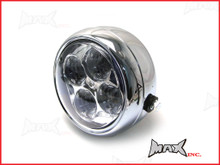 "5.5"" INCH 4 EYE Projector LED Headlight - Chrome Metal Housing"