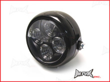 "5.5"" INCH 4 EYE Projector LED Headlight - Black Metal Housing"