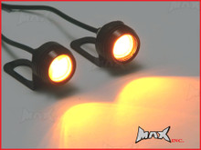 Universal Mirror Mount Amber LED Projector Turn Signal / Marker Lights