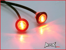 RED 12v Round Flush Mount LED Mini Marker Lights